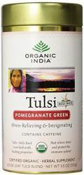 Organic India Tulsi Gránátalmás Zöld Tea Szálas 100 g