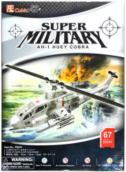 CubicFun AH-1 Huey Cobra harci helikopter 3D puzzle 35 db-os (P603)