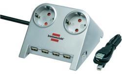 brennenstuhl 2 Plug + 4 USB 1,5m (1153540122)