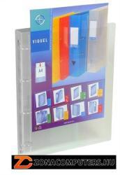 Viquel Propyglass Gyűrűs dosszié panorámás 4 gyűrű 25 mm A4 PP víztiszta (IV095683)