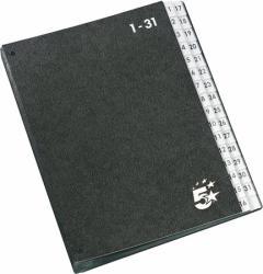 5 STAR Előrendező A4 1-31 karton fekete (907360)