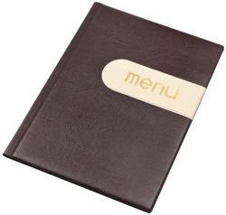 Panta Plast Modern Étlaptartó A4 bőr hatású barna-bézs (3175022)
