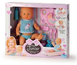 Falca Toys Junior pisilő baba etetőkészlettel - 40 cm