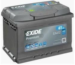 Exide Premium 61Ah 600A Jobb+ (EA612)
