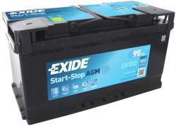 Exide Start-Stop AGM 95Ah 850A Jobb+ (EK950)