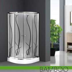 Leziter Spirit Bamboo + zuhanytálca 90x90x195 cm íves (SB90S)
