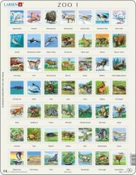 Larsen Állatok 49 db-os Zoo1