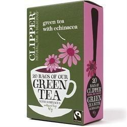 Clipper Zöld Tea Echinaceával 20 filter