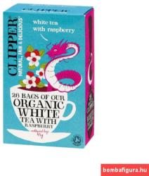 Clipper Bio Fehér Tea Málnával 26 filter
