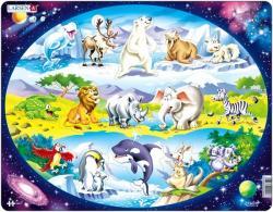 Larsen Állatok a világ körül 15 db-os NM6