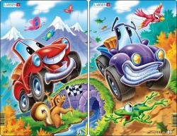 Larsen Midi puzzle - Mókás autók 12 db-os U6