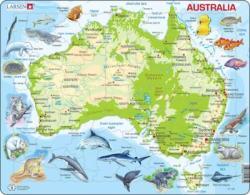 Larsen Ausztrália térkép 65 db-os A31