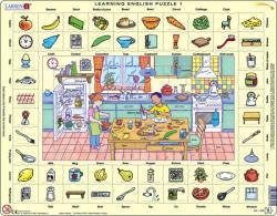 Larsen Tanuljunk angolul: A konyhában 70 db-os
