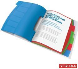 Esselte Vivida Előrendező A4 6 részes műanyag áttetsző (624029)