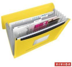 Esselte Vivida Harmonika mappa A4 6 rekeszes PP sárga (624020)