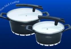 Barton Steel Set oale cu interior ceramic 4 piese (BS 4004)