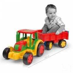 Wader Óriás traktor utánfutóval - 2