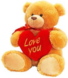 Keel Toys George mackó szívvel - 45cm