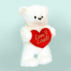Keel Toys Henry álló mackó szívvel - 25cm