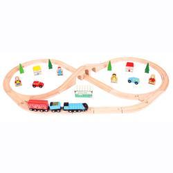 Bigjigs Toys Legendás játéktár Mallard vonat szett