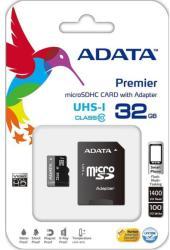 ADATA MicroSDHC Premier 32GB Class 10 UHS-I (AUSDH32GUICL10)