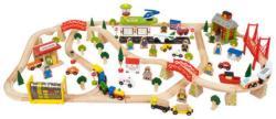 Bigjigs Toys Fa vasút szett 124 darabos BJT018