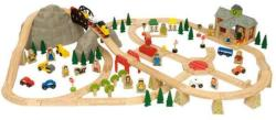 Bigjigs Toys Fa vasút szett 112 darabos BJT016