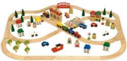 Bigjigs Toys Fa vasút szett 101 darabos BJT015
