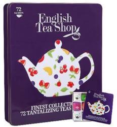 English Tea Shop Bio Szuper Gyümölcs Tea Válogatás Fémdobozos 72 filter