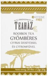 Gárdonyi Teaház Rooibos Tea Citromfű Gyömbér 20 filter
