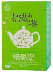English Tea Shop Bio Zöld Tea Trópusi Gyümölcs 20 filter