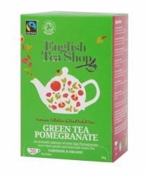 English Tea Shop Bio Zöld Tea Gránátalma 20 filter