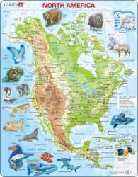 Larsen Észak-Amerika térkép 66 db-os
