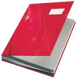 Leitz Design Aláírókönyv 18 részes A4 karton piros (57450025)