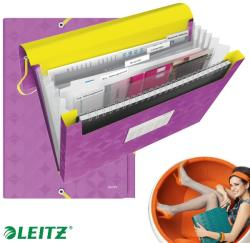 Leitz Retro Chic Harmonika mappa 5 rekeszes A4 PP lila (45190065)