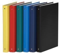 DONAU Gyűrűs könyv 4 gyűrű 35 mm A4 PP/karton piros (3733P)