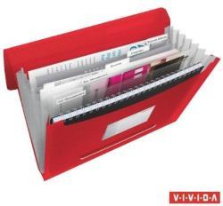 Esselte Vivida Harmonika mappa 6 rekeszes A4 PP piros (624016)