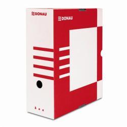 DONAU Archiváló doboz 120 mm A4 karton piros (7662P)