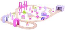 Bigjigs Toys Tündér város nagy vonatszett lányoknak BJT023