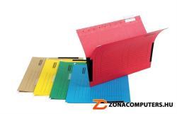 DONAU Függőmappa oldalvédelemmel A4 karton barna (7420B25)