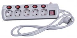 Steck 5 Plug 1,5m Switch (SEK 515K)