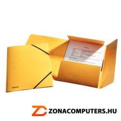 Esselte Luxus Gumis mappa 15 mm A4 prespán sárga (26591)