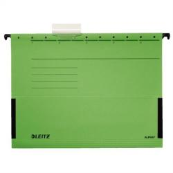 Leitz Alpha Függõmappa oldalvédelemmel A4 karton zöld (19860055)