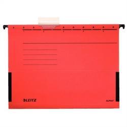 Leitz Alpha Függõmappa oldalvédelemmel A4 karton piros (19860025)
