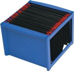 HELIT Függőmappa tároló műanyag kék (INH6110034)