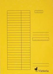 Victoria Gyorsfűző A4 karton sárga (IDPGY02)