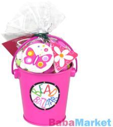 Bead Bazaar Gyöngyfűző készlet vödörben - rózsaszín