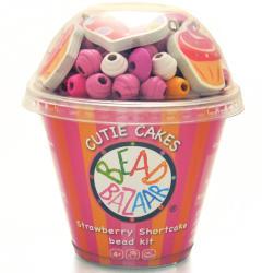 Bead Bazaar Gyöngyfűző készlet pohárban - sütik, rózsaszín