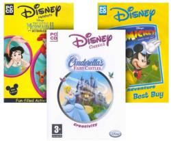 Disney Cinderella's Fairy Castles + The Little Mermaid II + Mickey Saves the Day [3 in 1] (PC)