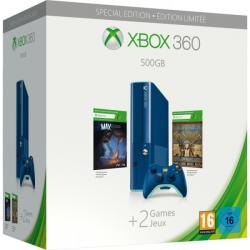 Microsoft Xbox 360 E 500GB Special Edition Blue + Max The Curse of Brotherhood + Toy Soldiers